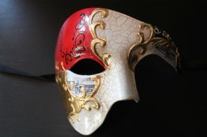 Red Half Face Mask - Phantom of the Opera Mask | Masks and Tiaras